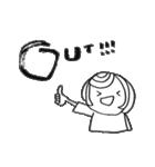 筆girl。(個別スタンプ:06)