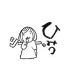 筆girl。(個別スタンプ:34)