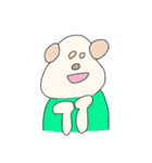 服を着たドッグ(個別スタンプ:40)