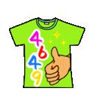 メッセージは、Tシャツで☆ ~基本編~(個別スタンプ:01)