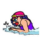 スイミング 水泳子(個別スタンプ:15)