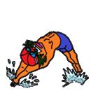 スイミング 水泳子(個別スタンプ:22)