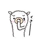 3匹のアルパカさん - マイナス思考の日(個別スタンプ:38)