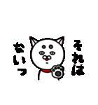 白い犬。2(個別スタンプ:10)