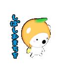 みかん大好き shozEEの白くま 被り物みかん(個別スタンプ:03)