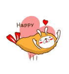 うさぎ+えび+フライ=恋するエビフライ(個別スタンプ:01)