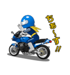青いライダー(個別スタンプ:01)