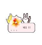 うさぎが届ける、お花のメッセージカード(個別スタンプ:35)
