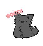 誕生日祝い 黒い犬ピッピとパピヨンぱぴ子(個別スタンプ:05)