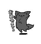 誕生日祝い 黒い犬ピッピとパピヨンぱぴ子(個別スタンプ:10)