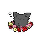 誕生日祝い 黒い犬ピッピとパピヨンぱぴ子(個別スタンプ:14)