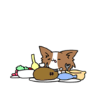 誕生日祝い 黒い犬ピッピとパピヨンぱぴ子(個別スタンプ:29)