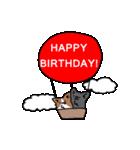 誕生日祝い 黒い犬ピッピとパピヨンぱぴ子(個別スタンプ:32)