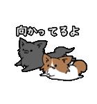 誕生日祝い 黒い犬ピッピとパピヨンぱぴ子(個別スタンプ:35)