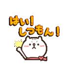 しろ猫ぽんのかわいいメッセージ(個別スタンプ:13)