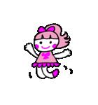 ピンクの好きなかわいい女の子♡(個別スタンプ:01)