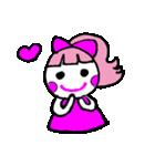 ピンクの好きなかわいい女の子♡(個別スタンプ:02)