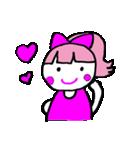 ピンクの好きなかわいい女の子♡(個別スタンプ:03)