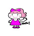 ピンクの好きなかわいい女の子♡(個別スタンプ:04)