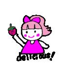 ピンクの好きなかわいい女の子♡(個別スタンプ:07)