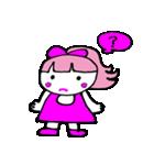 ピンクの好きなかわいい女の子♡(個別スタンプ:09)