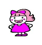 ピンクの好きなかわいい女の子♡(個別スタンプ:10)