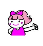 ピンクの好きなかわいい女の子♡(個別スタンプ:11)