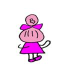 ピンクの好きなかわいい女の子♡(個別スタンプ:13)