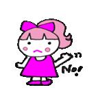 ピンクの好きなかわいい女の子♡(個別スタンプ:14)