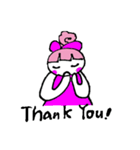ピンクの好きなかわいい女の子♡(個別スタンプ:16)