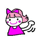 ピンクの好きなかわいい女の子♡(個別スタンプ:21)