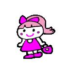 ピンクの好きなかわいい女の子♡(個別スタンプ:22)