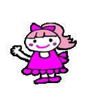 ピンクの好きなかわいい女の子♡(個別スタンプ:23)