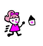 ピンクの好きなかわいい女の子♡(個別スタンプ:24)