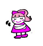 ピンクの好きなかわいい女の子♡(個別スタンプ:32)