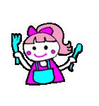 ピンクの好きなかわいい女の子♡(個別スタンプ:40)