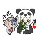 パンダ娘とぬこ。(個別スタンプ:06)