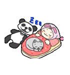 パンダ娘とぬこ。(個別スタンプ:08)