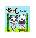 パンダ娘とぬこ。(個別スタンプ:38)