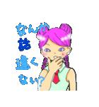猫耳・犬耳ヘアの女の子(個別スタンプ:20)