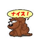 愛しのトイプードル かわいい犬スタンプ(個別スタンプ:19)