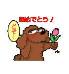 愛しのトイプードル かわいい犬スタンプ(個別スタンプ:25)