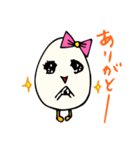 女子たまごちゃん(個別スタンプ:01)