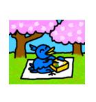 くちばしの黄色い青い鳥 <Part.2>(個別スタンプ:30)