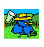 くちばしの黄色い青い鳥 <Part.2>(個別スタンプ:32)