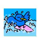 くちばしの黄色い青い鳥 <Part.2>(個別スタンプ:35)