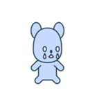 nervous bear ~no.1~(個別スタンプ:16)