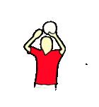 サッカー選手スタンプ(個別スタンプ:6)