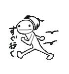 かつらちゃんとかつらくん(個別スタンプ:1)