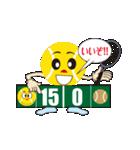 テニスをする人 2(個別スタンプ:01)